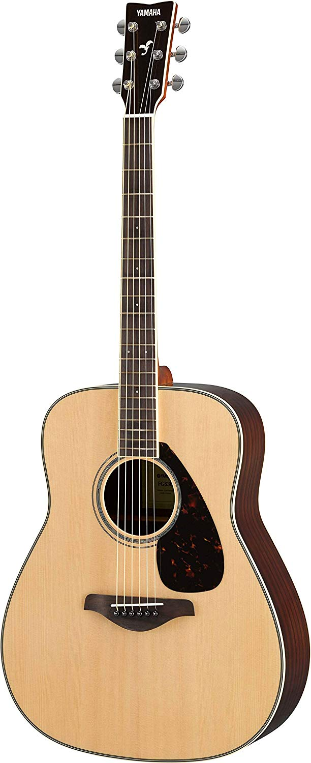 best acoustic guitar featuring Solid Top Folk Guitar Natural