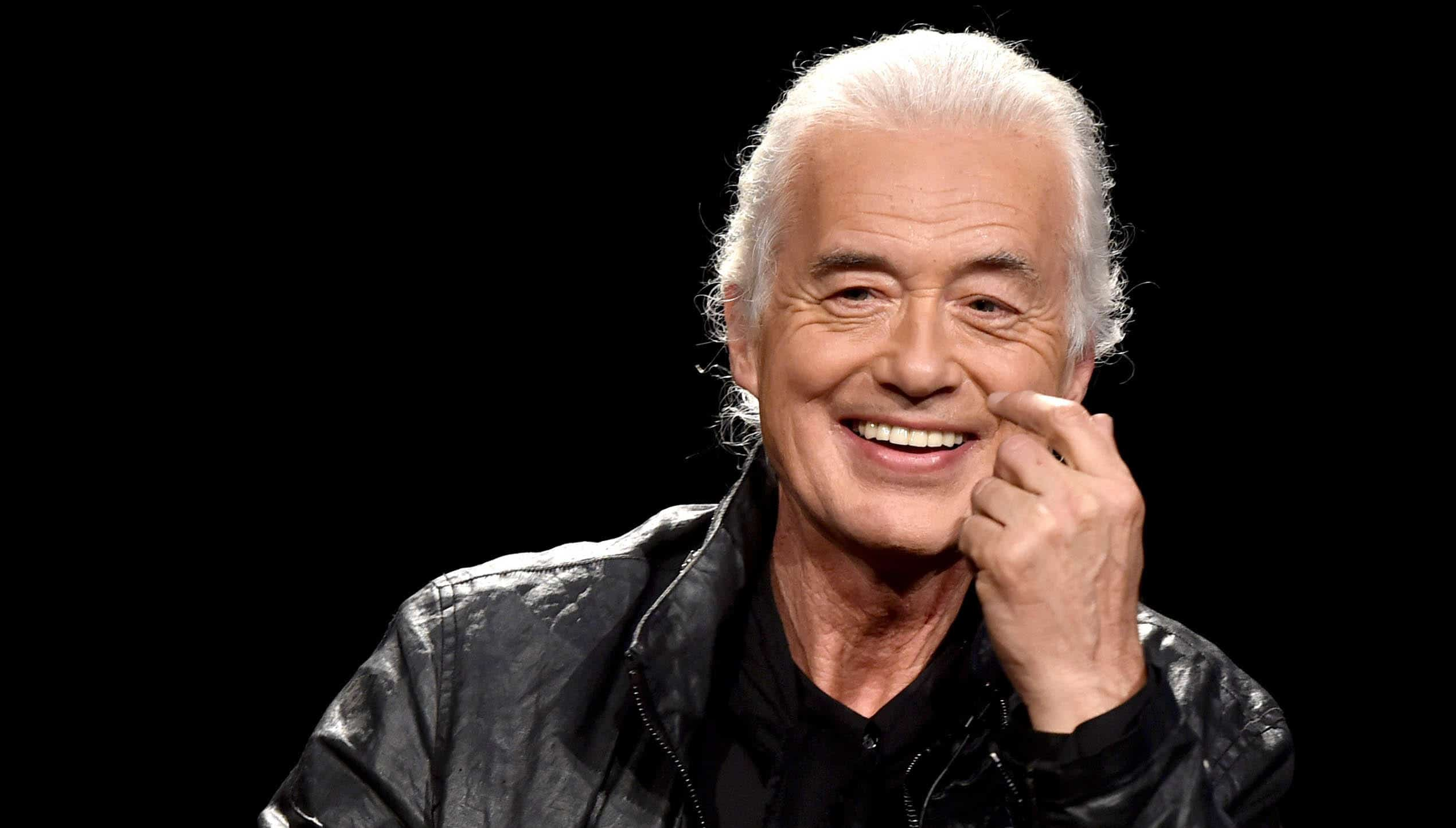 an happy face of the song writer and producer Jimmy Page