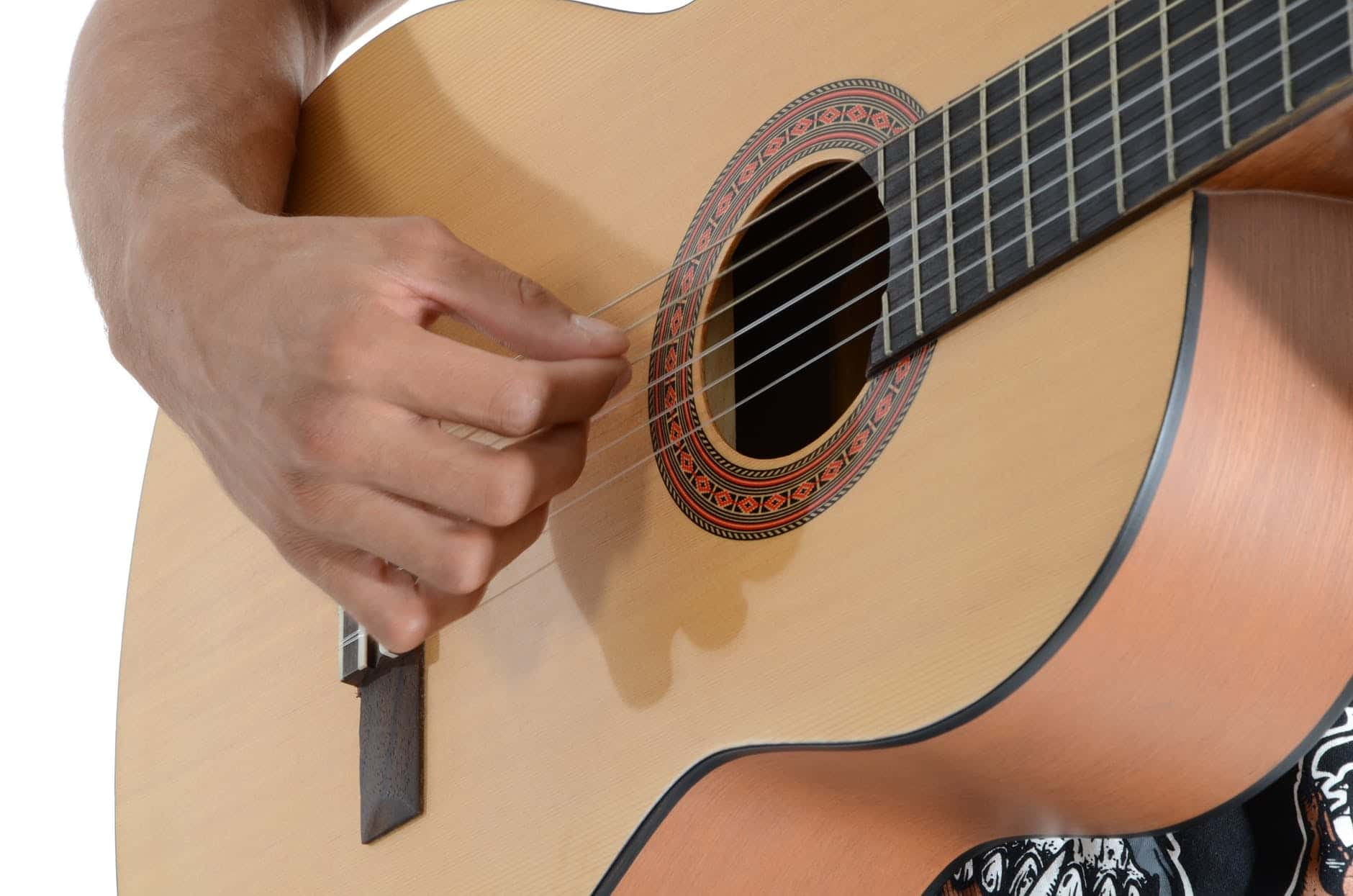 playing the guitar with the right finger style