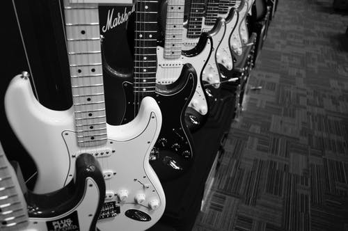 Guitars on the floor